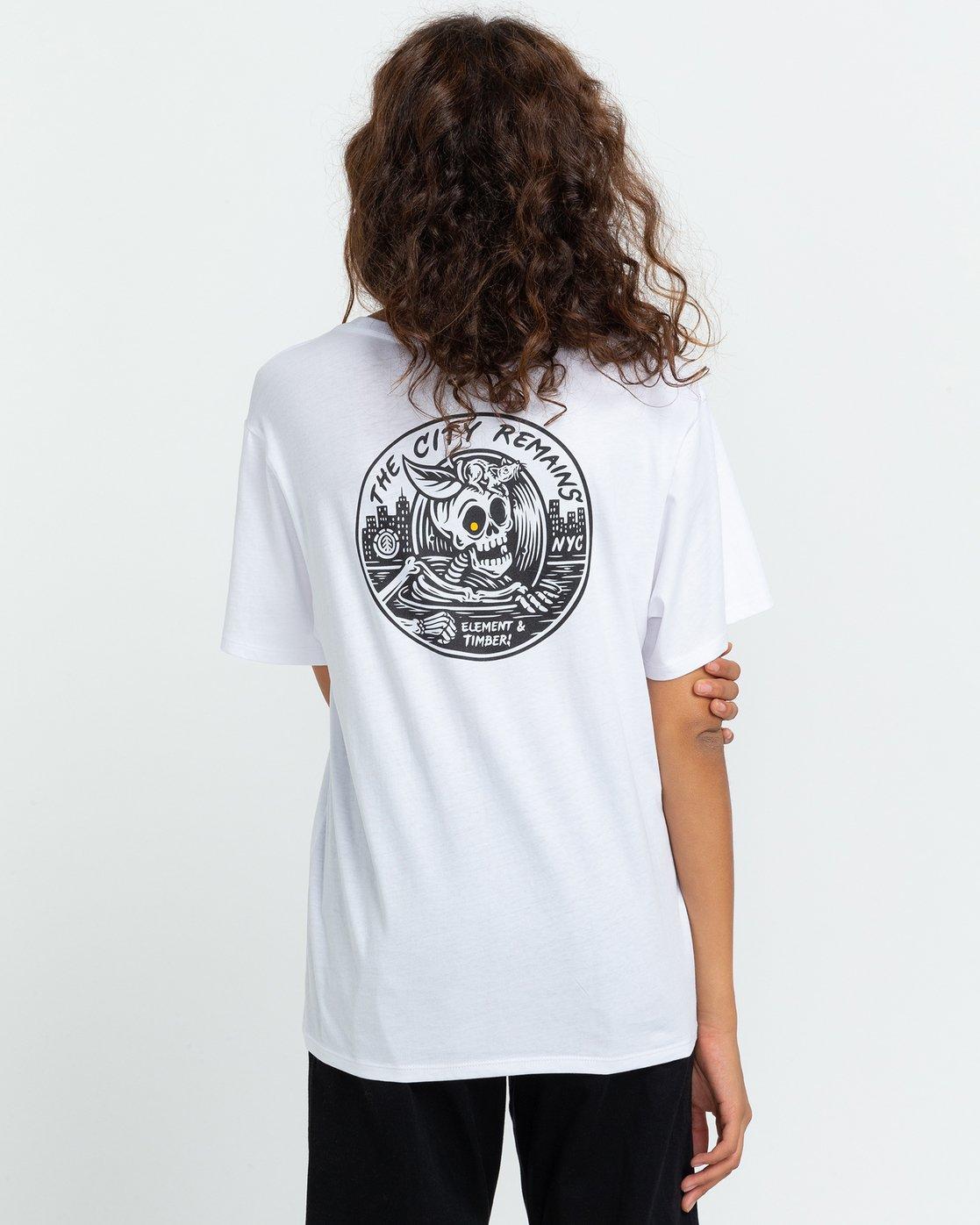 3 Timber! The Remains B-Side - T-shirt pour Femme Blanc U3SSA1ELF0 Element
