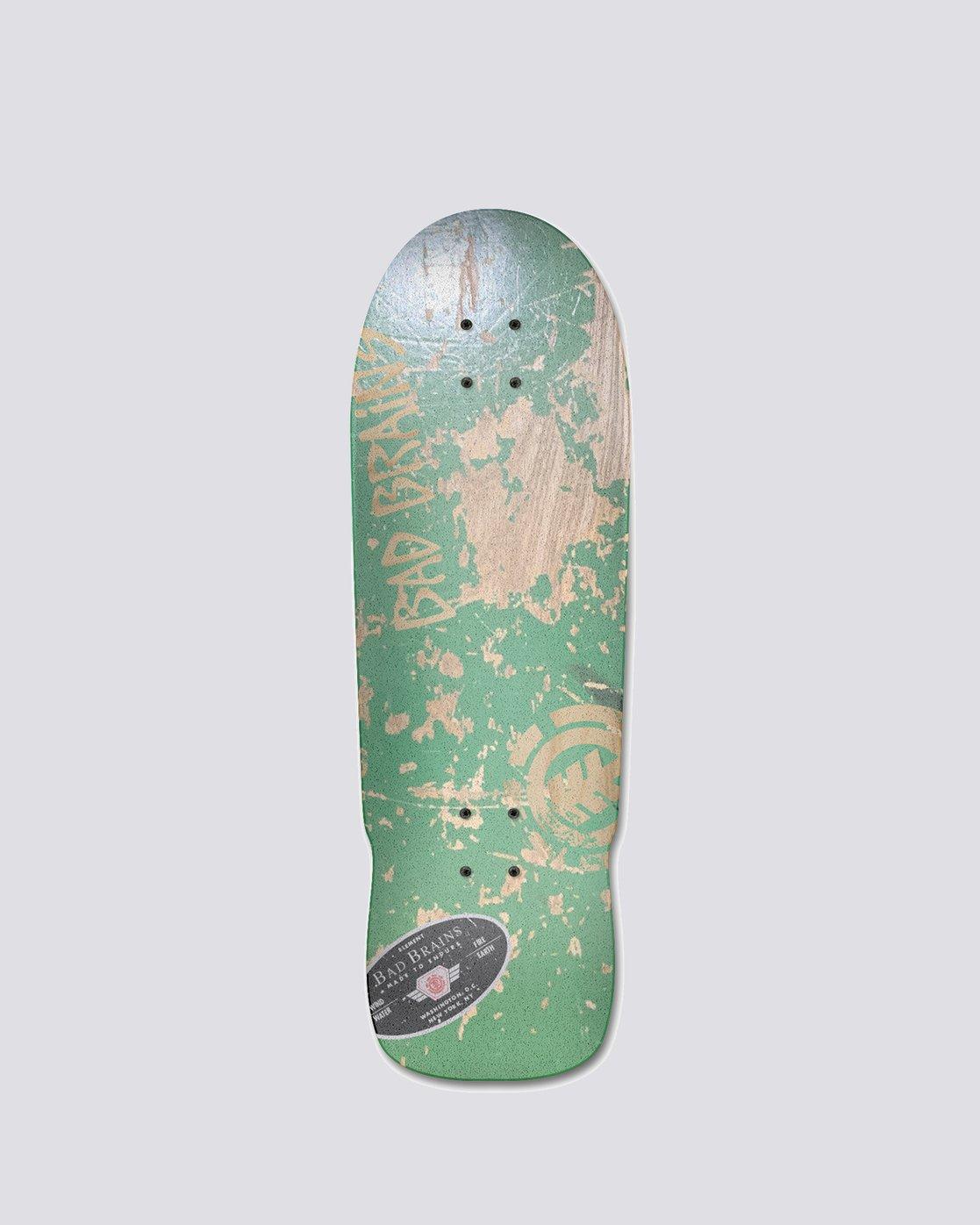 "1 Bad Brains 9.5"" Bad Brains Grn Mnstr - Skateboard Deck  U4DCC3ELF0 Element"