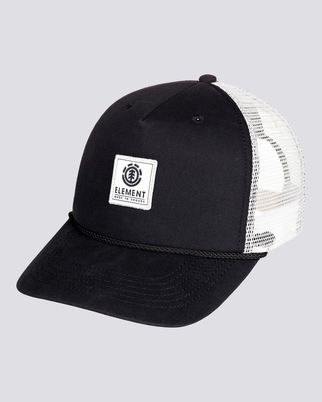 0 Wolfeboro Bark - Cappellino Trucker da Uomo Black U5CTA6ELF0 Element
