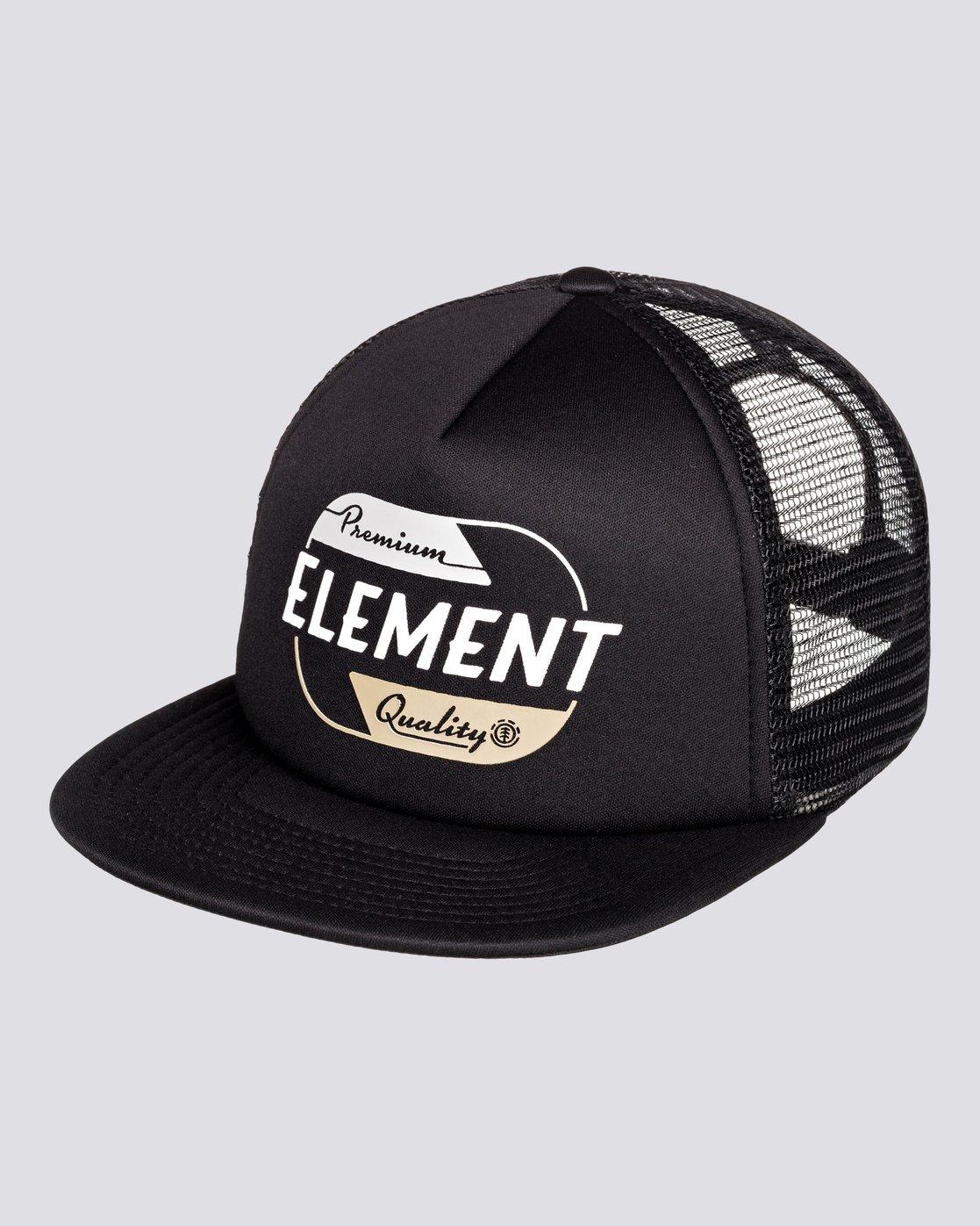 0 Depot - Cappellino Trucker da Uomo Black U5CTA7ELF0 Element