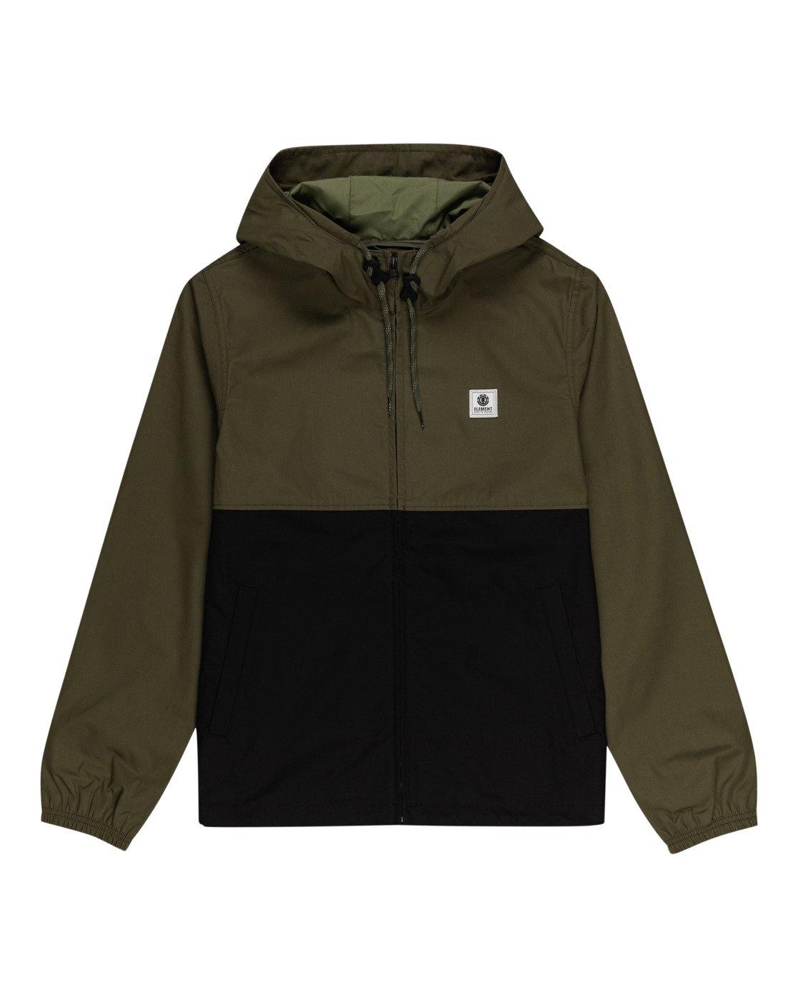 0 Wolfeboro Alder Light 2 Tones - Lightweight Water Resistant Jacket for Men Black W1JKC1ELP1 Element
