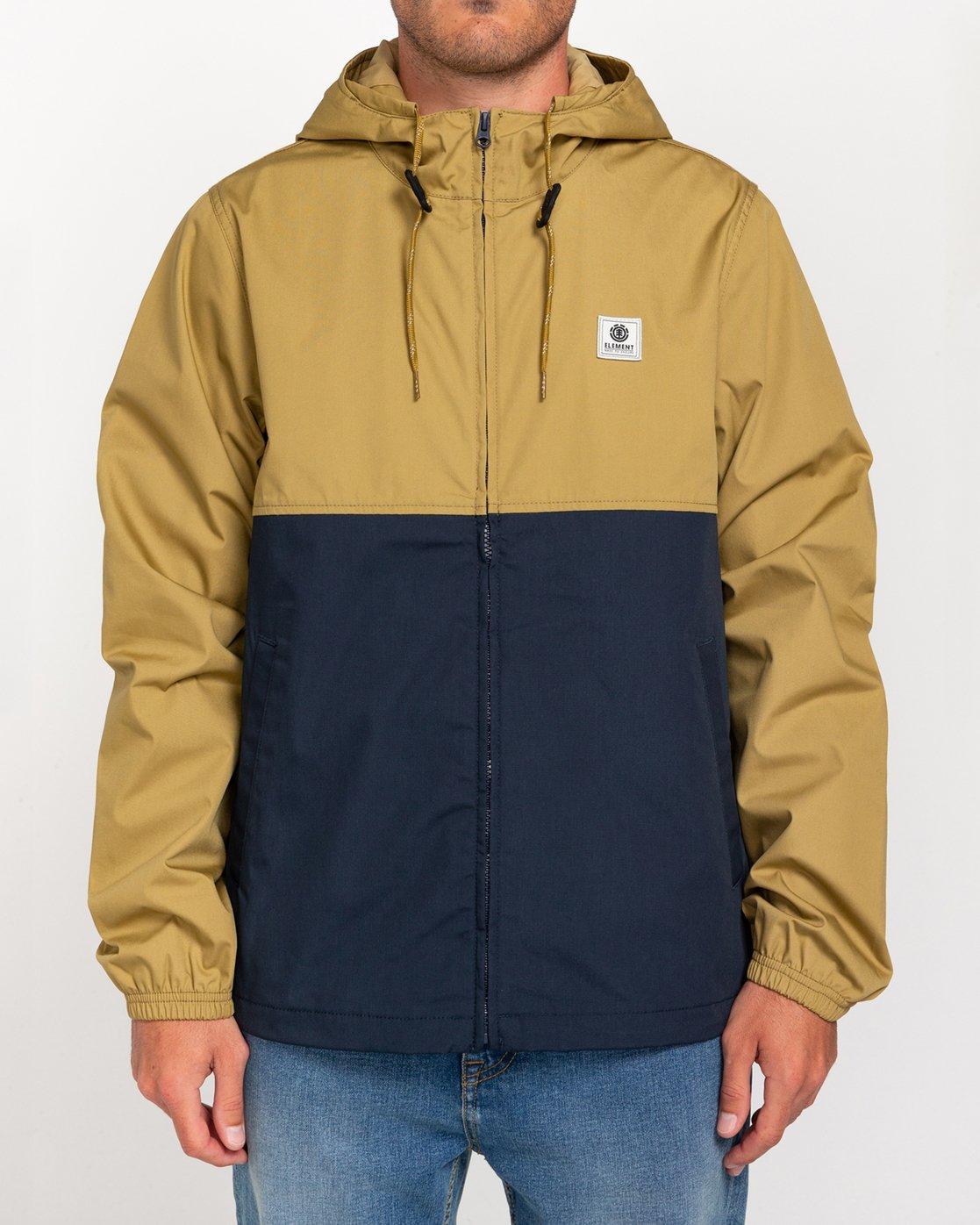 0 Wolfeboro Alder Light 2 Tones - Leichte, wasserabweisende Jacke für Männer Blau W1JKC1ELP1 Element