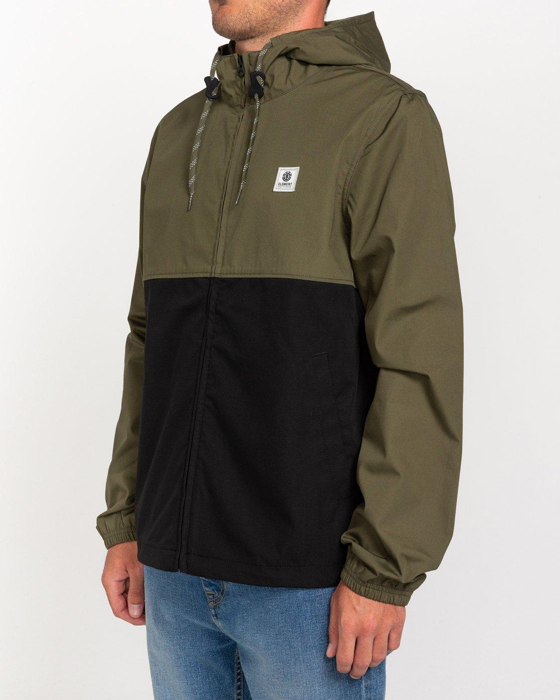2 Wolfeboro Alder Light 2 Tones - Lightweight Water Resistant Jacket for Men Black W1JKC1ELP1 Element