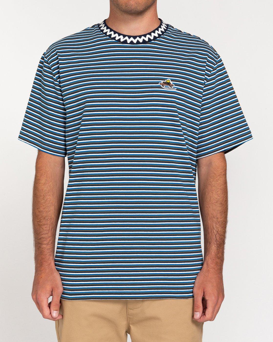 1 Peanuts Patches - T-Shirt for Men Blue W1KTB8ELP1 Element