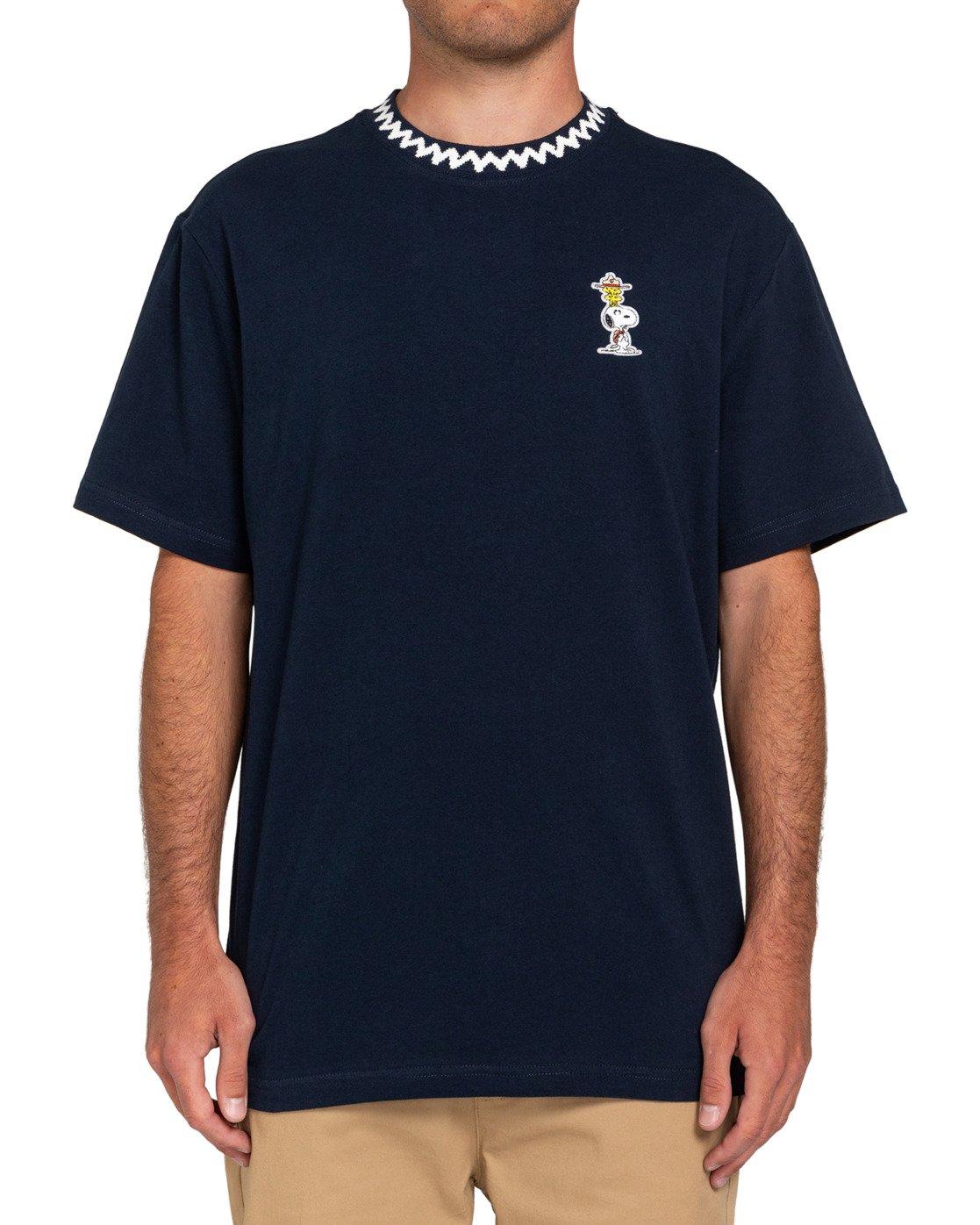 1 Peanuts Patches - T-Shirt für Männer Blau W1KTB8ELP1 Element