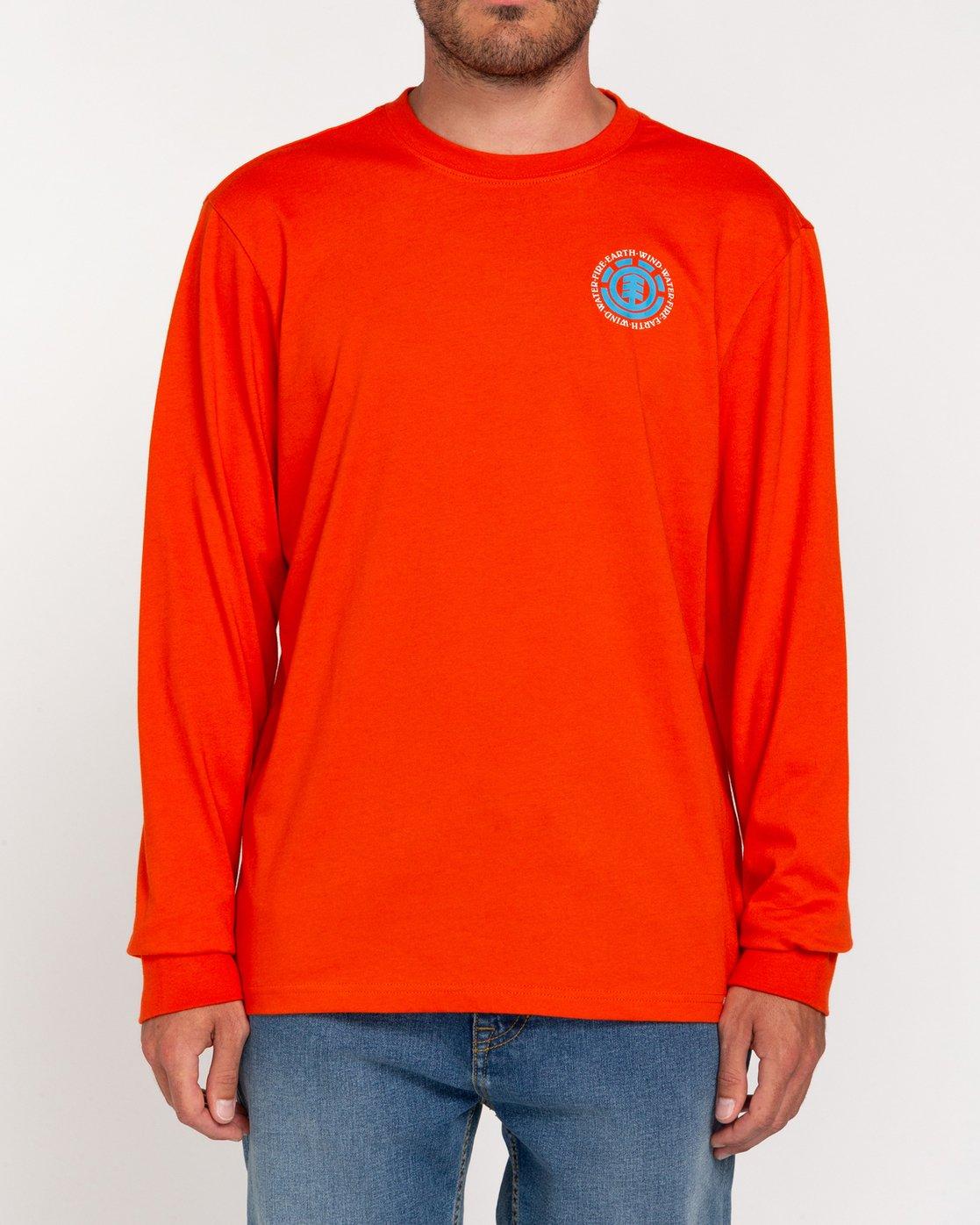 2 Seal - T-shirt manches longues pour Homme Orange W1LSB6ELP1 Element