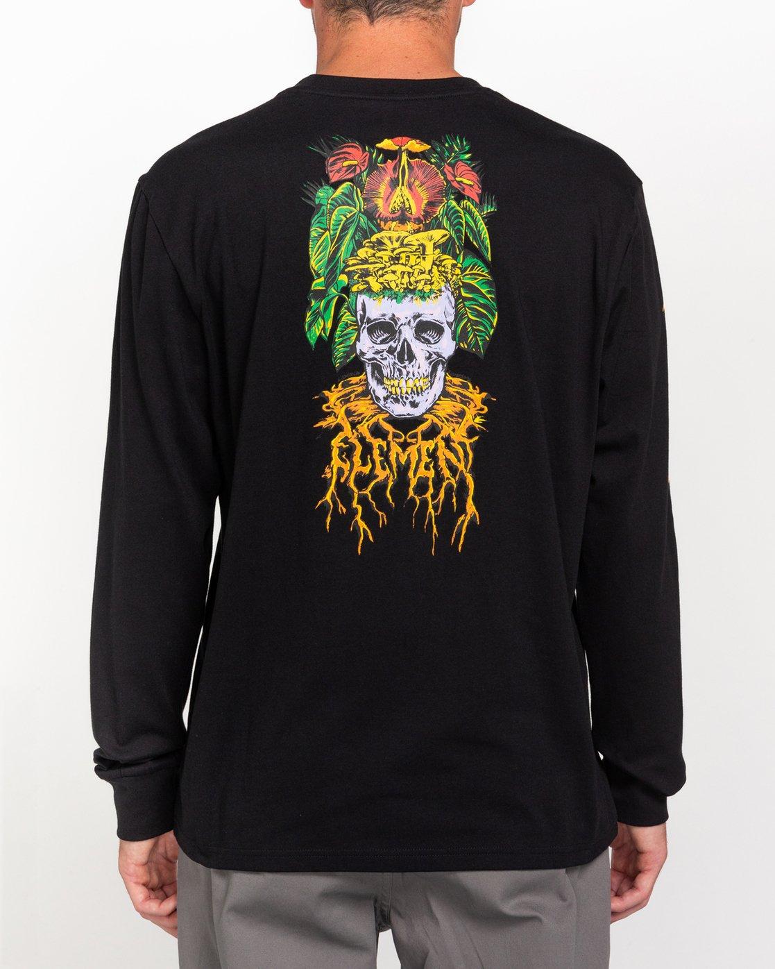4 L'Amour Supreme Spectral - Long Sleeve T-Shirt Black W1LSC8ELP1 Element