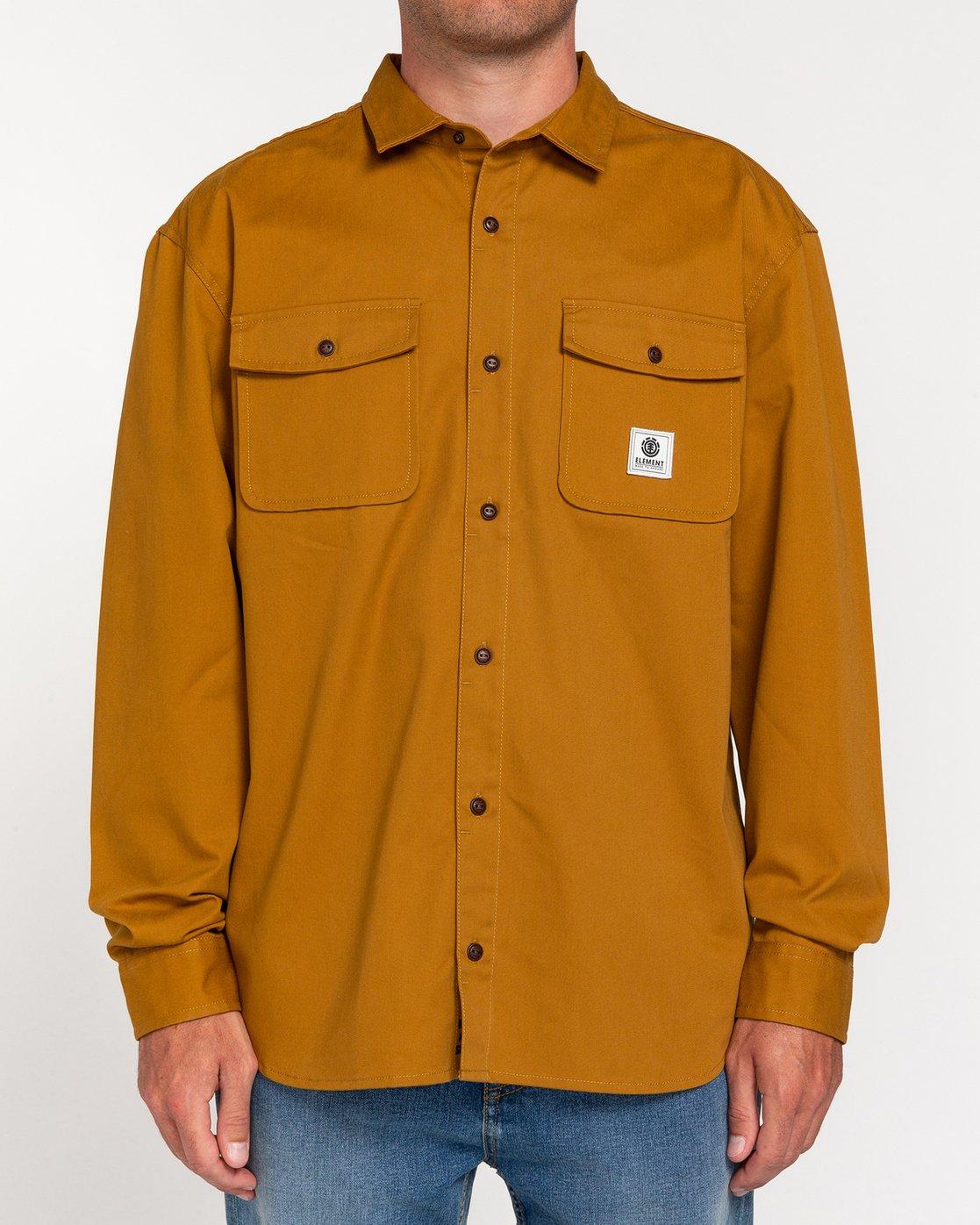 1 Builder Repreve - Long Sleeve Shirt for Men  W1SHB2ELP1 Element