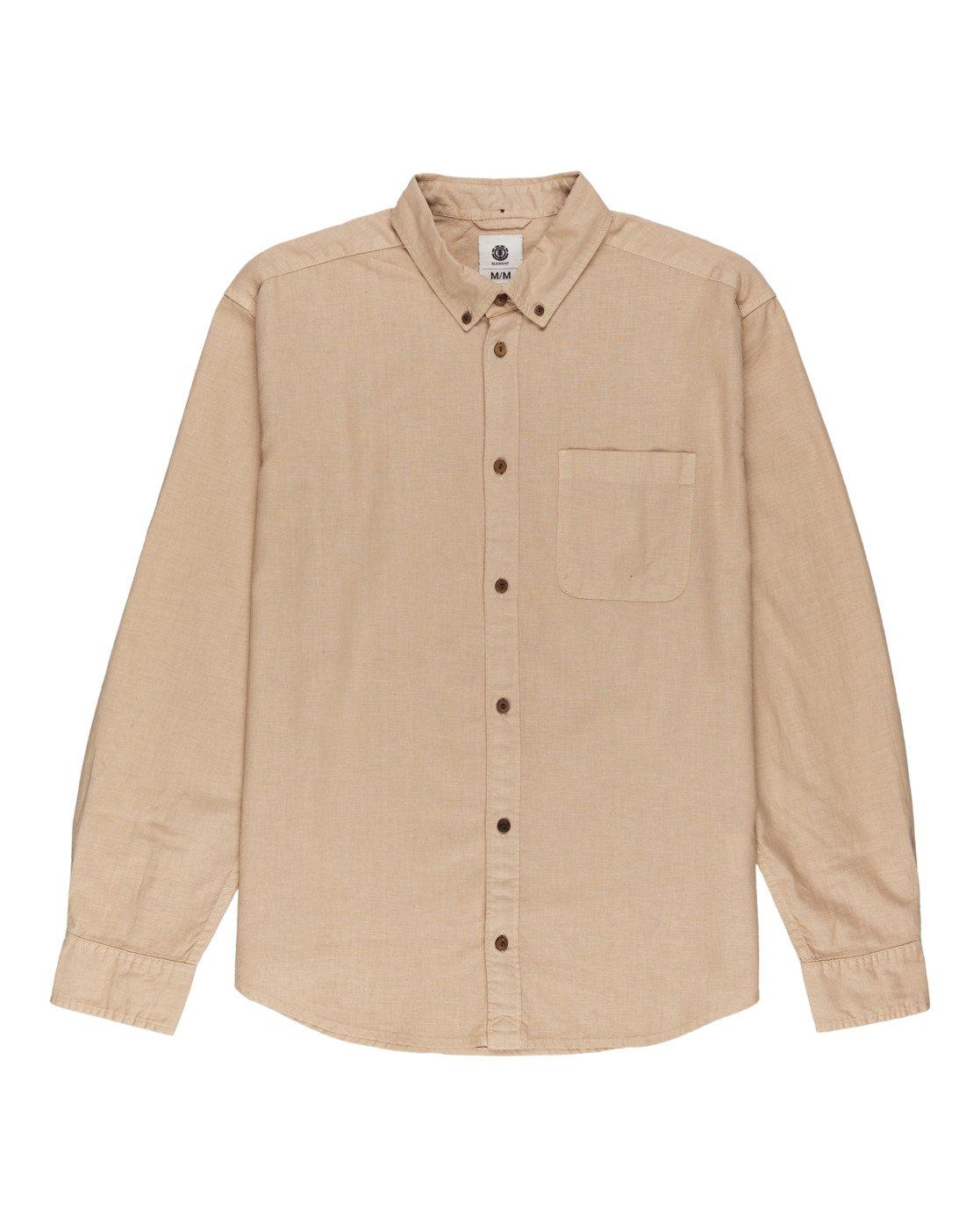 0 Bold Spring - Long Sleeve Shirt for Men Beige W1SHB9ELP1 Element