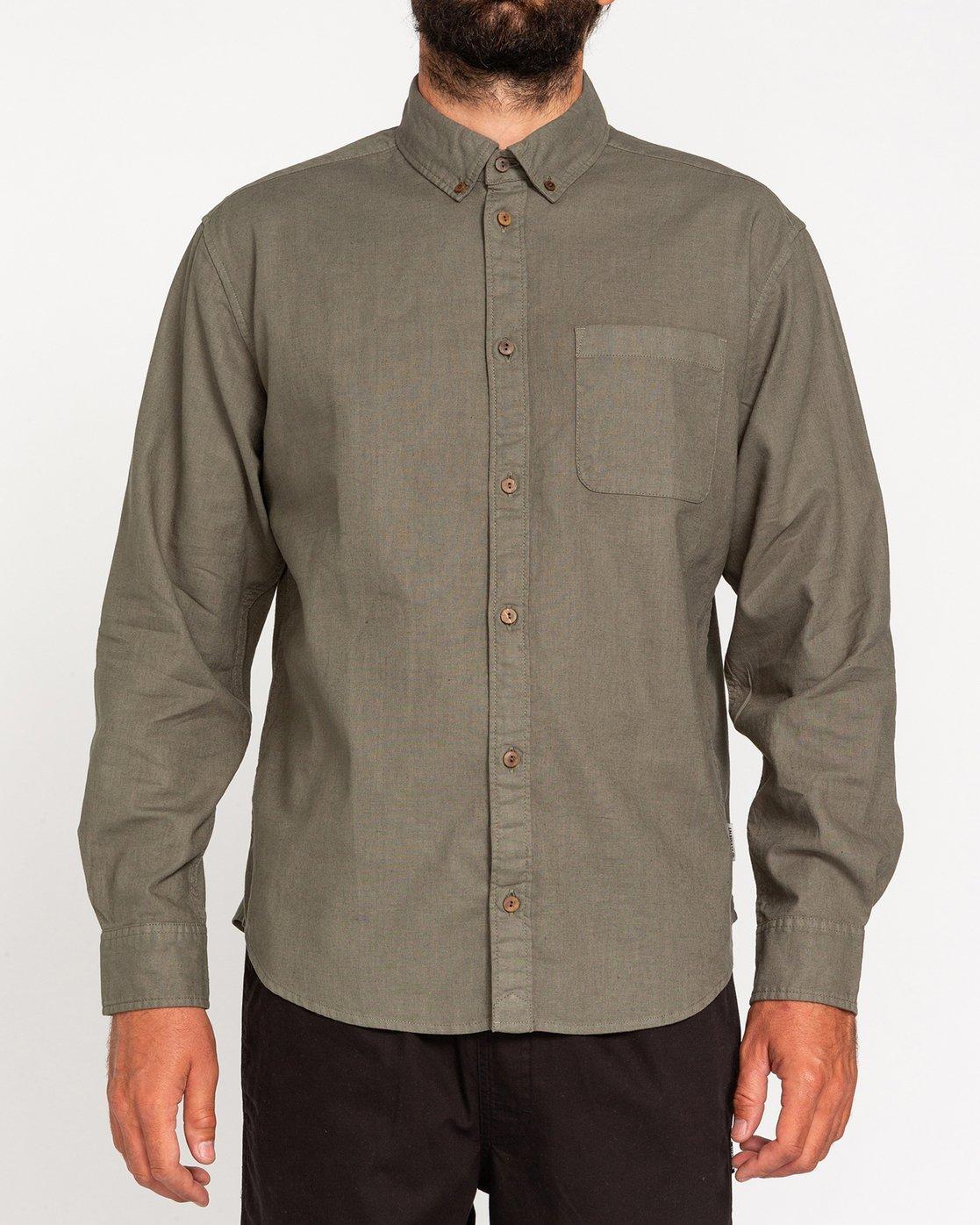 1 Bold Spring - Long Sleeve Shirt for Men Green W1SHB9ELP1 Element