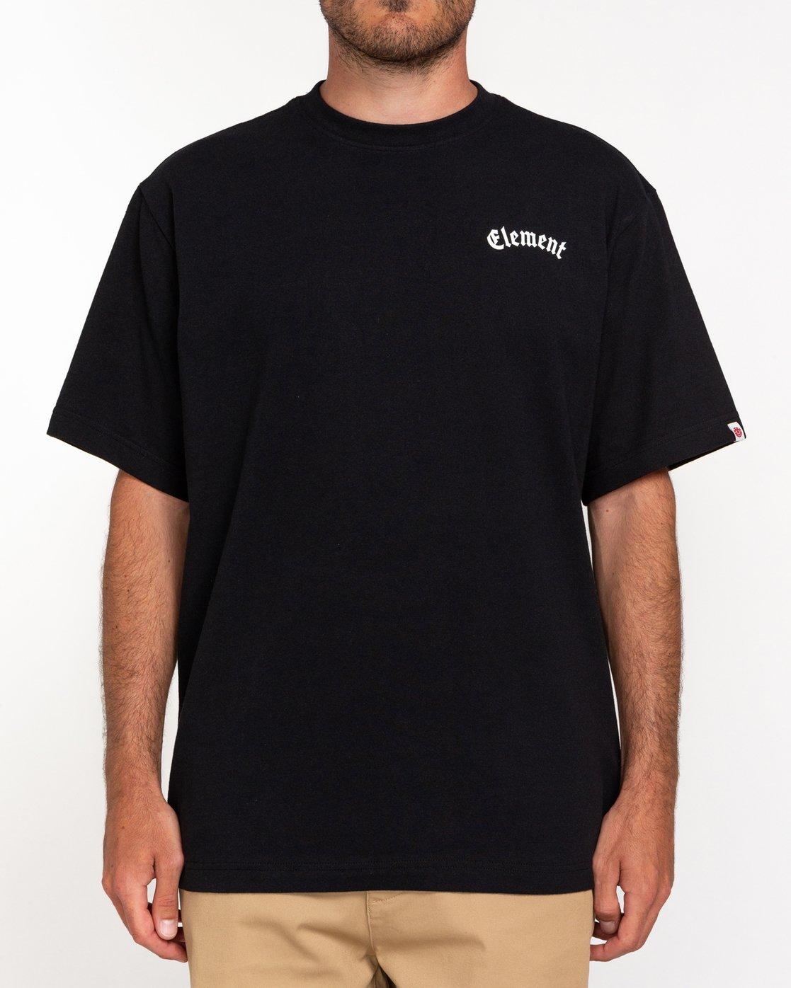 2 Coyle - Maglietta da Uomo Black W1SSJ3ELP1 Element