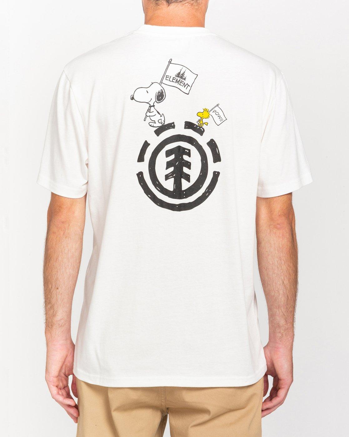 1 Peanuts Slide - T-Shirt for Men White W1SSO3ELP1 Element