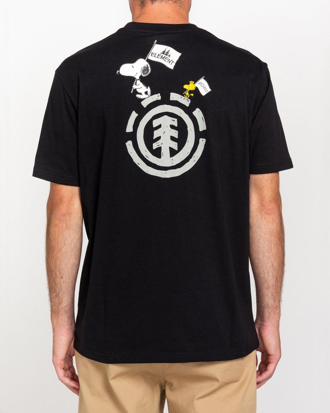 1 Peanuts Slide - T-Shirt for Men Black W1SSO3ELP1 Element