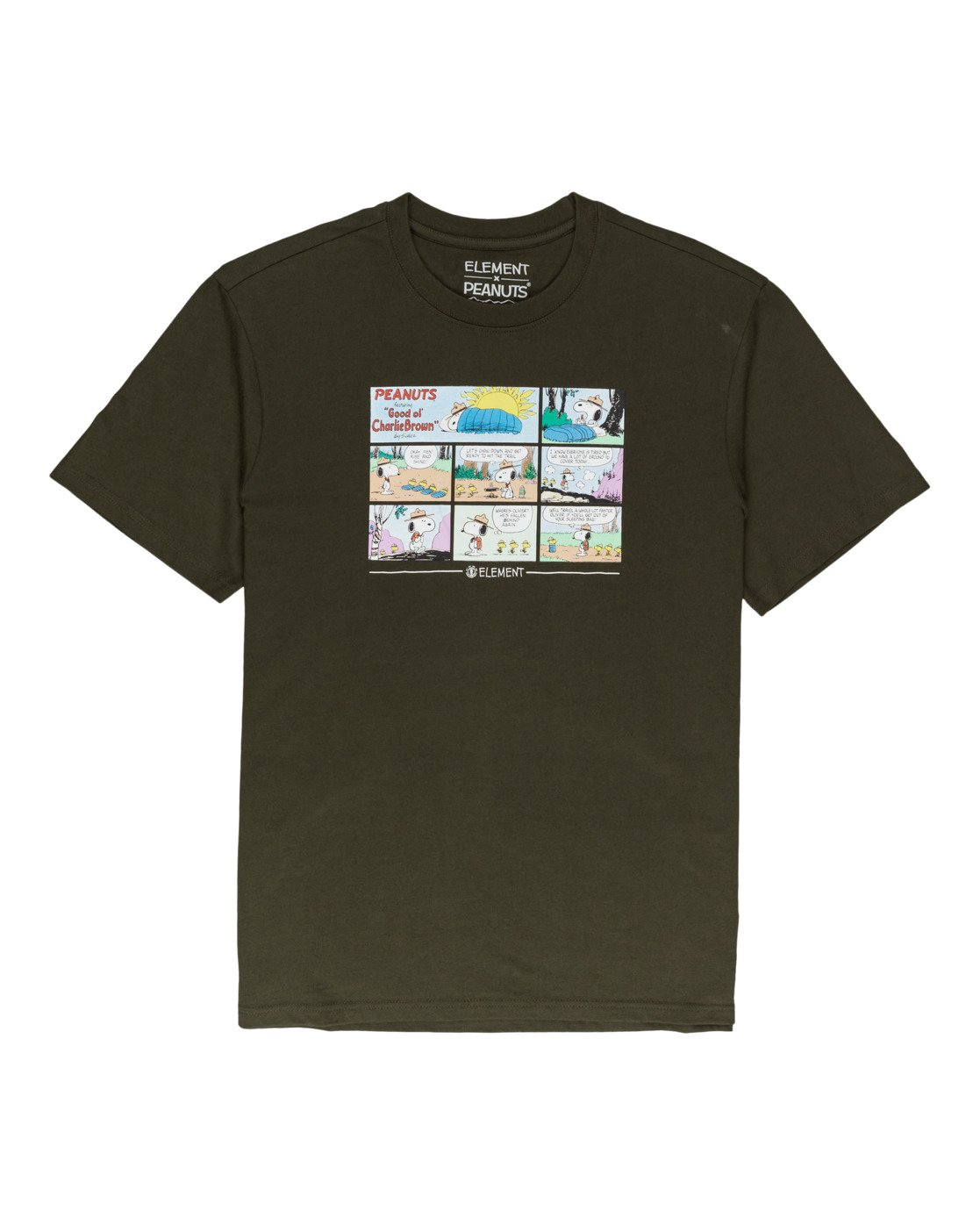 0 Peanuts Camper - T-Shirt for Men Green W1SSO4ELP1 Element