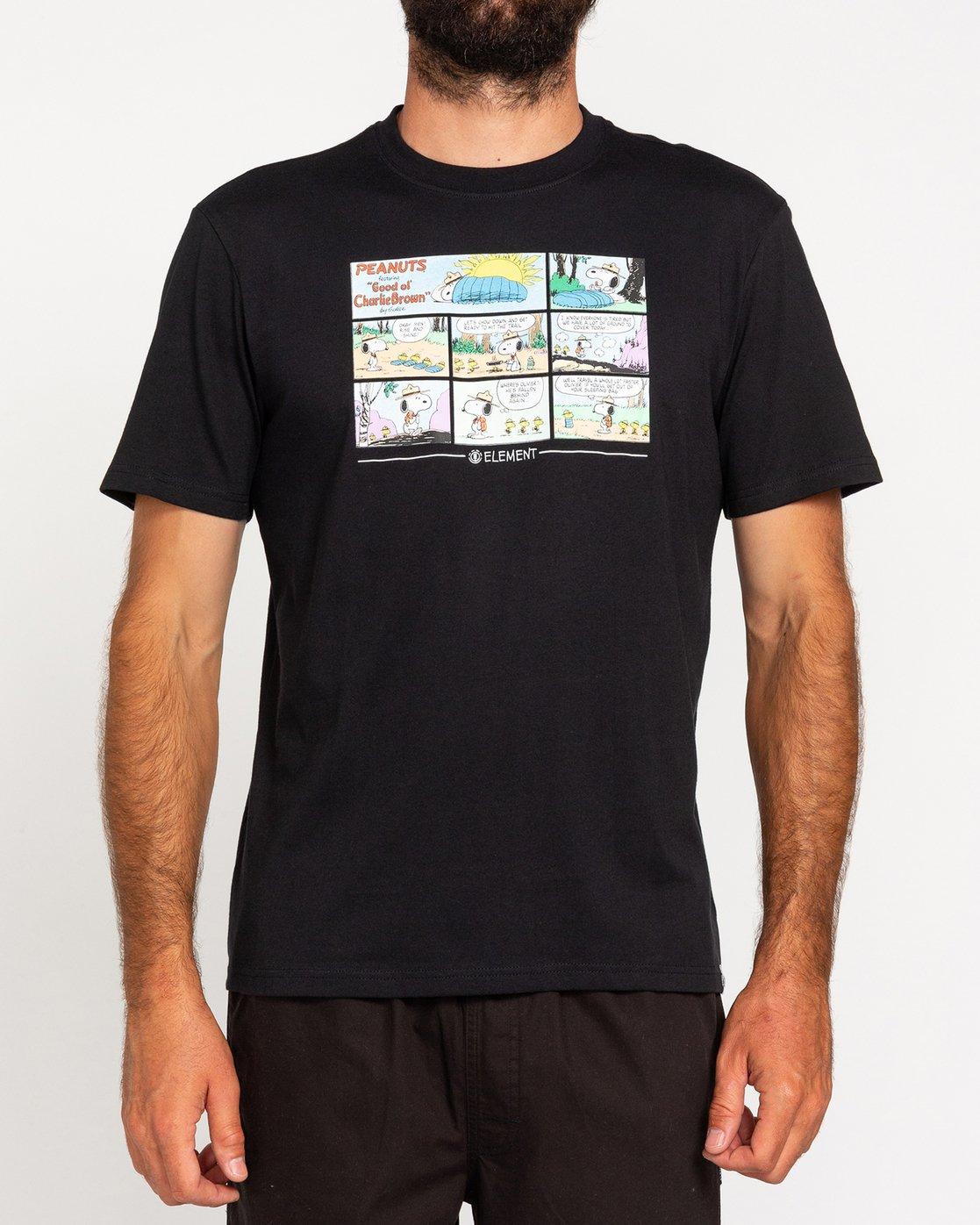 2 Peanuts Camper - T-Shirt for Men Black W1SSO4ELP1 Element