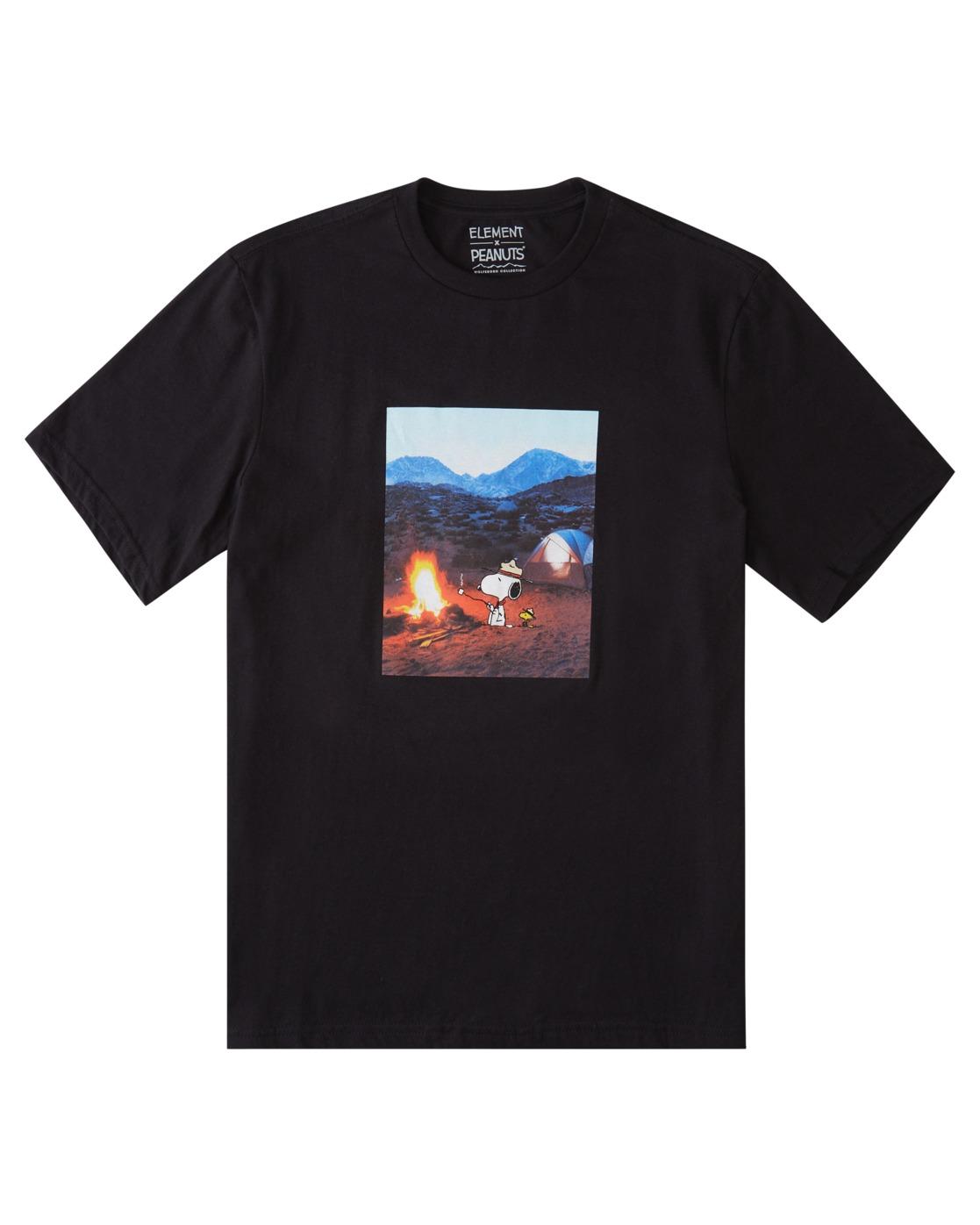 0 Peanuts Adventure - T-Shirt for Men Black W1SSO6ELP1 Element