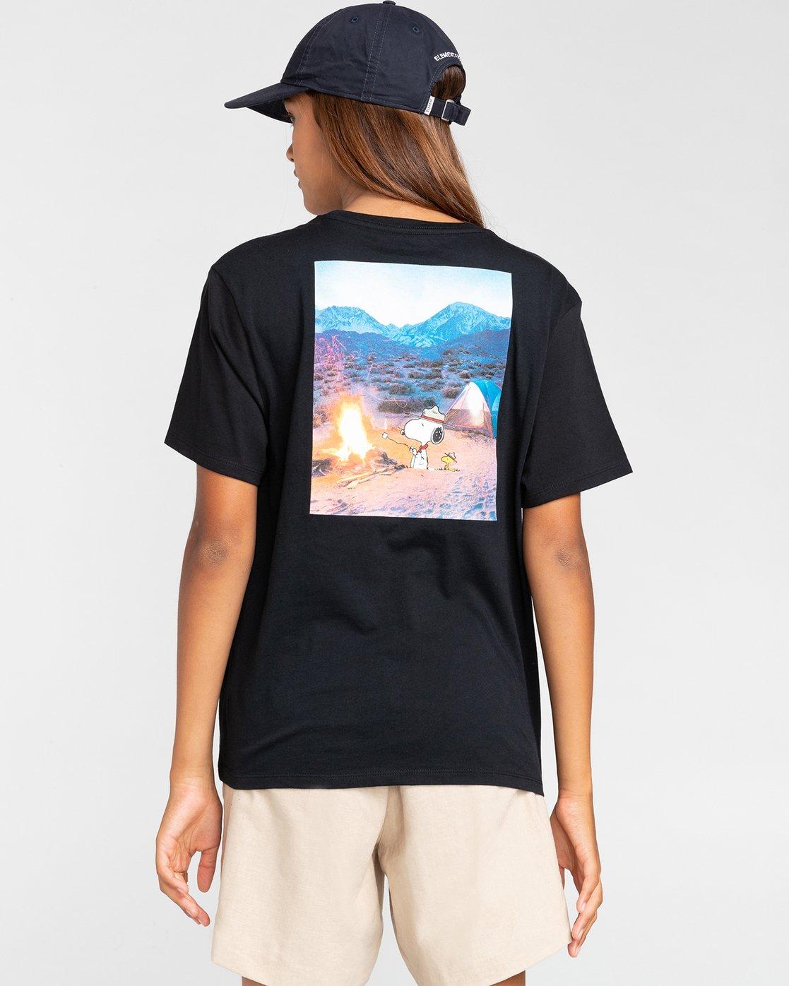 3 Peanuts Adventure - T-Shirt for Men Black W1SSO6ELP1 Element