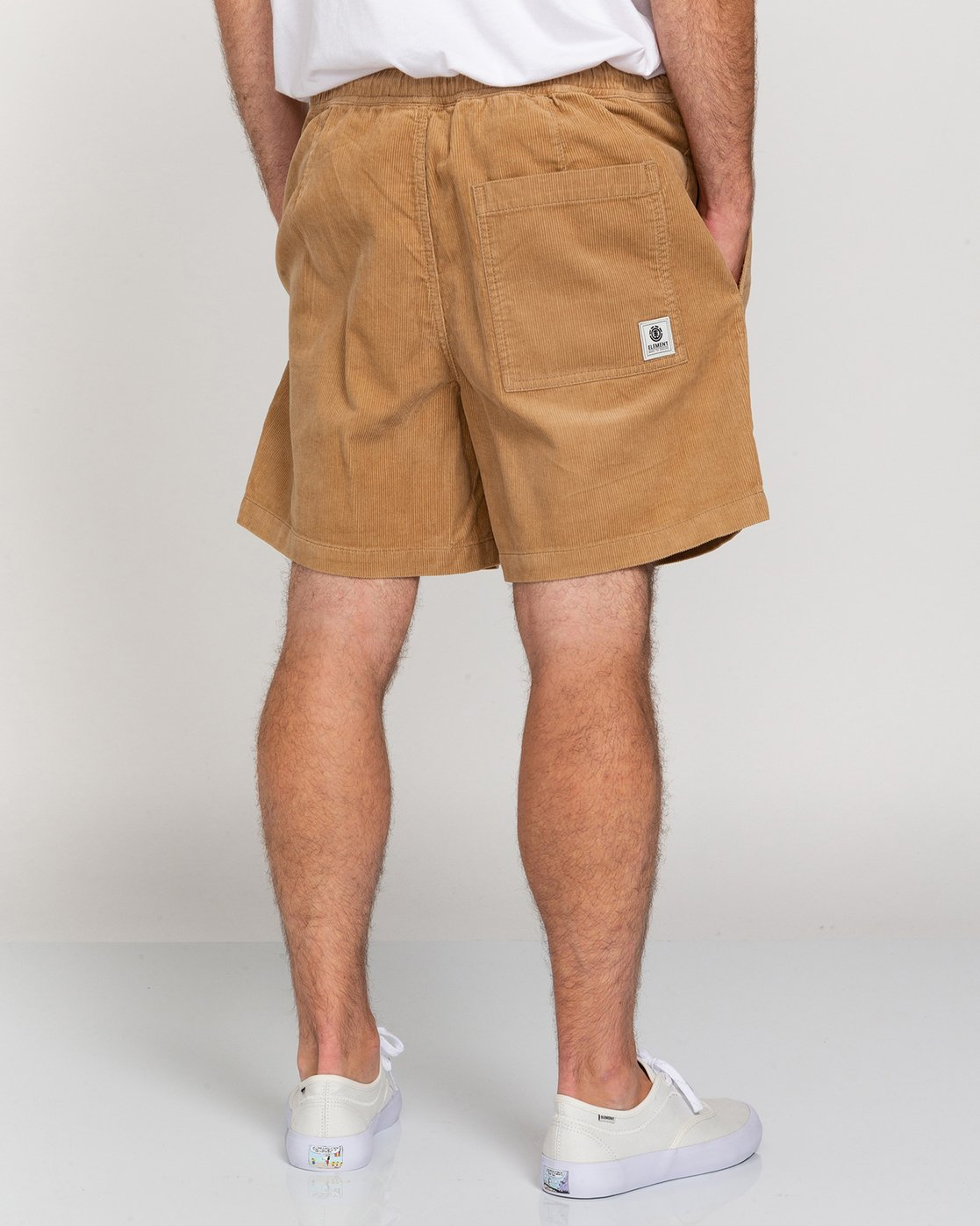 "4 Manual Corduroy 17"" - Corduroy Shorts for Men Grey W1WKC3ELP1 Element"
