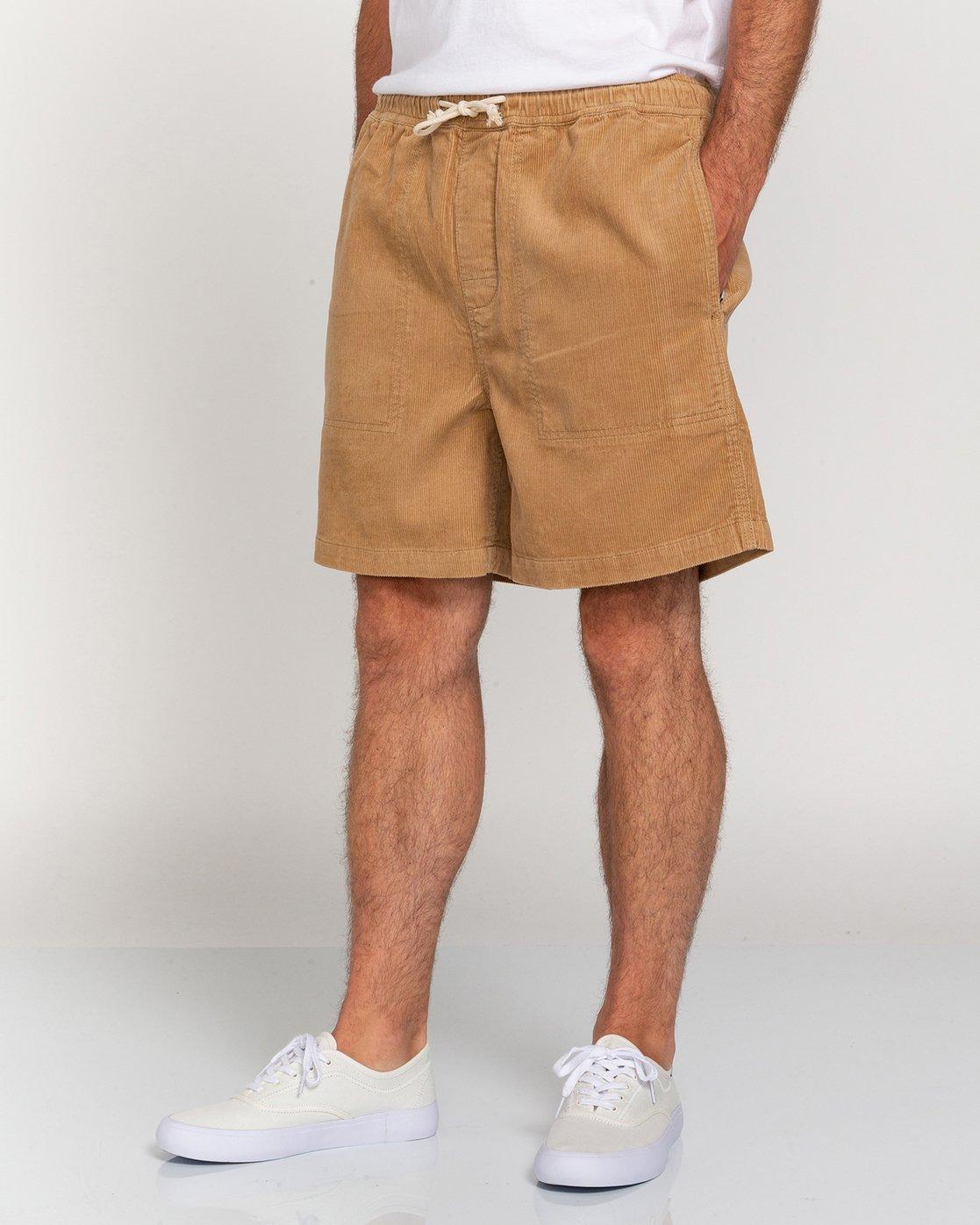 "3 Manual Corduroy 17"" - Corduroy Shorts for Men Grey W1WKC3ELP1 Element"