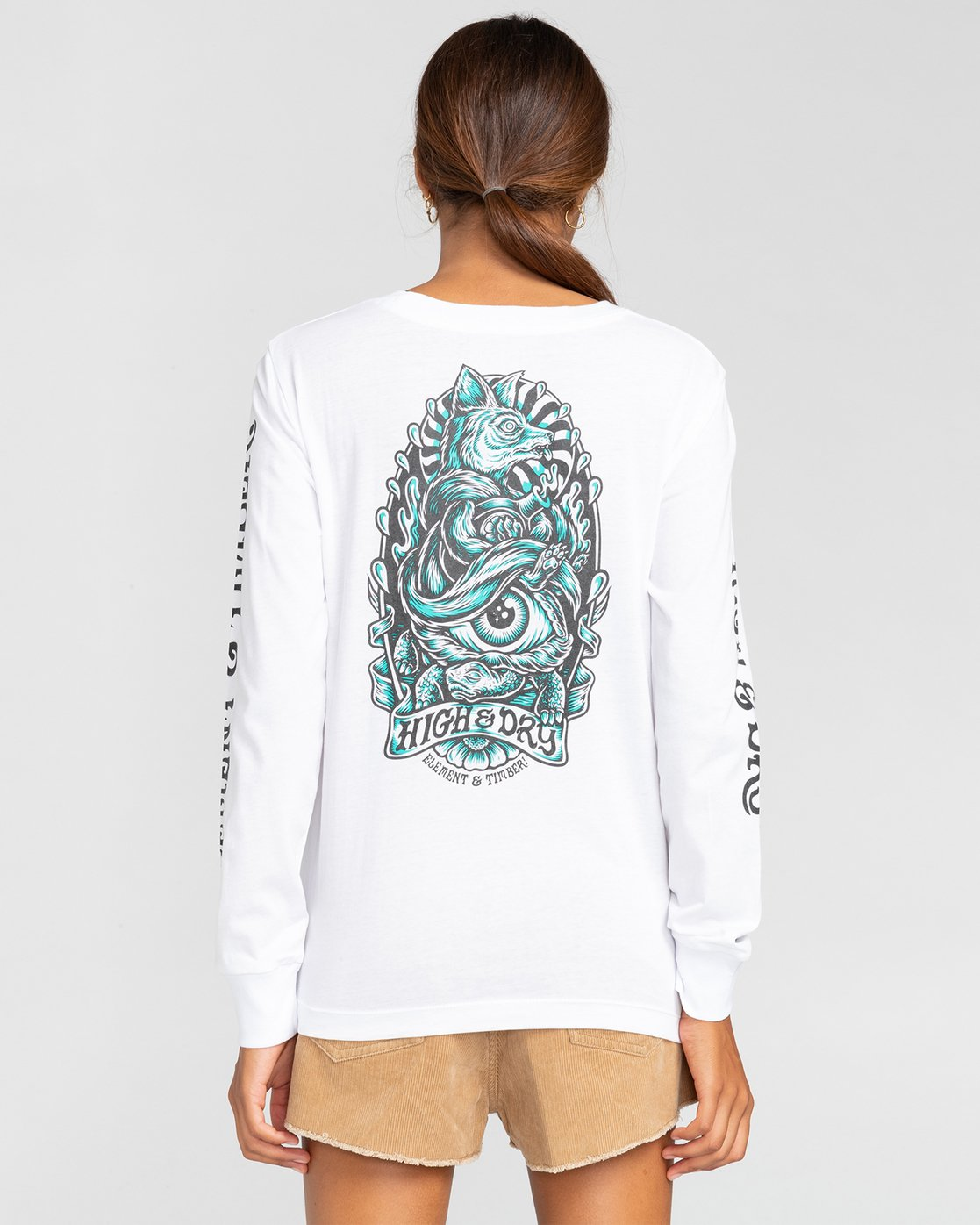 2 Antidote - T-shirt manches longues pour Femme Blanc W3LSA1ELP1 Element