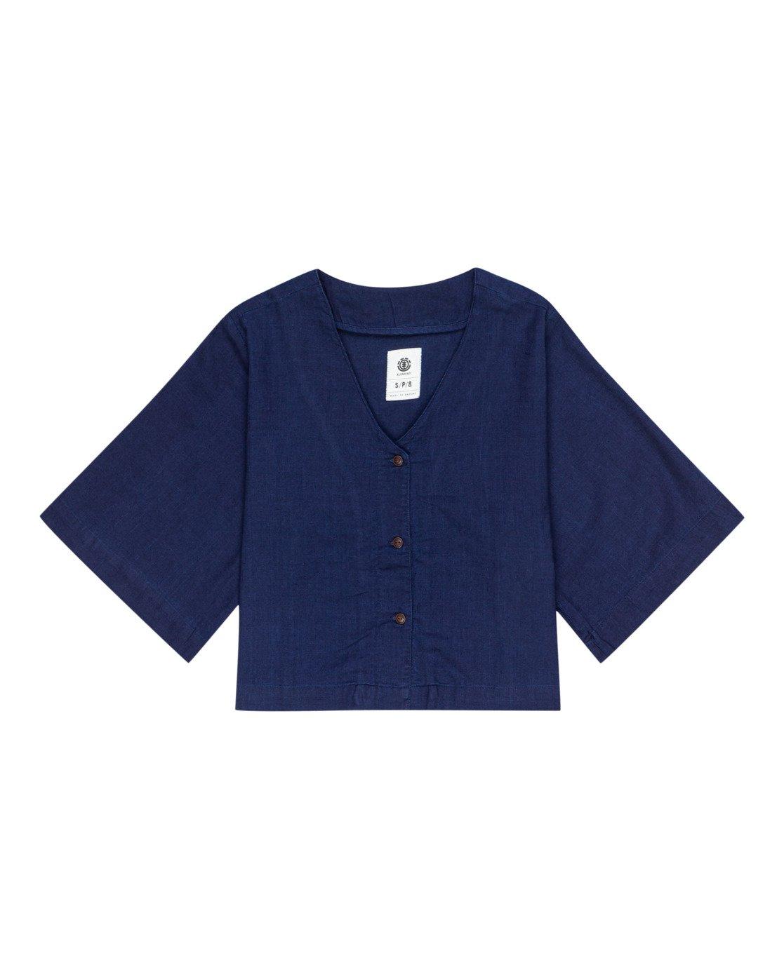 0 Salto Indigo - Kurzärmliges Hemd für Frauen Violett W3SHB4ELP1 Element