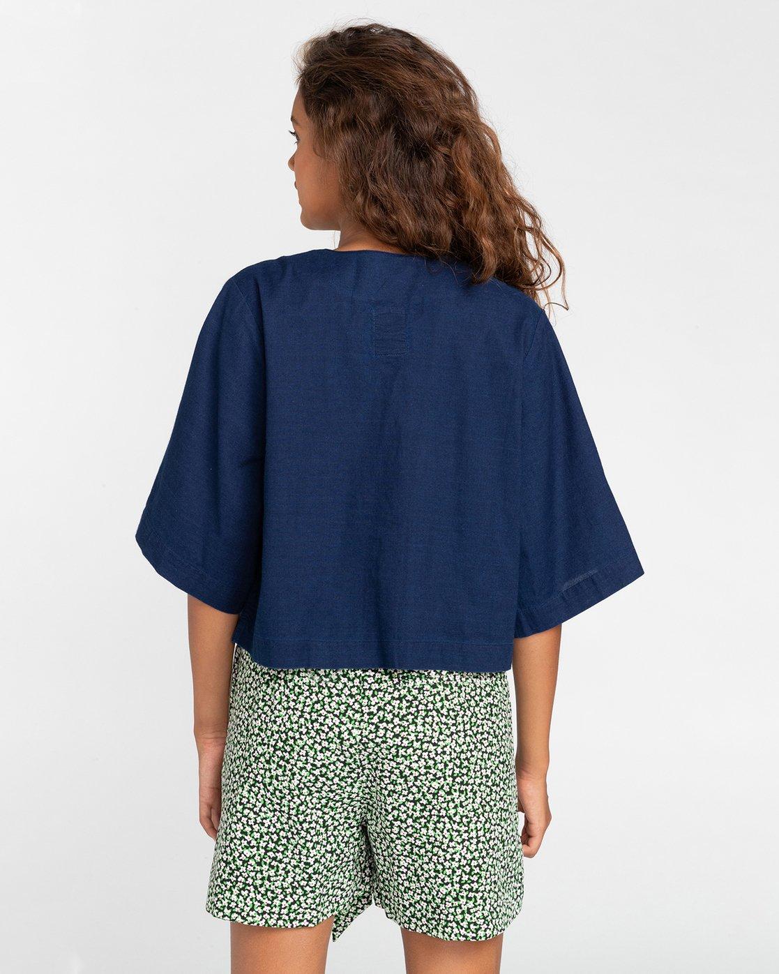 5 Salto Indigo - Kurzärmliges Hemd für Frauen Violett W3SHB4ELP1 Element