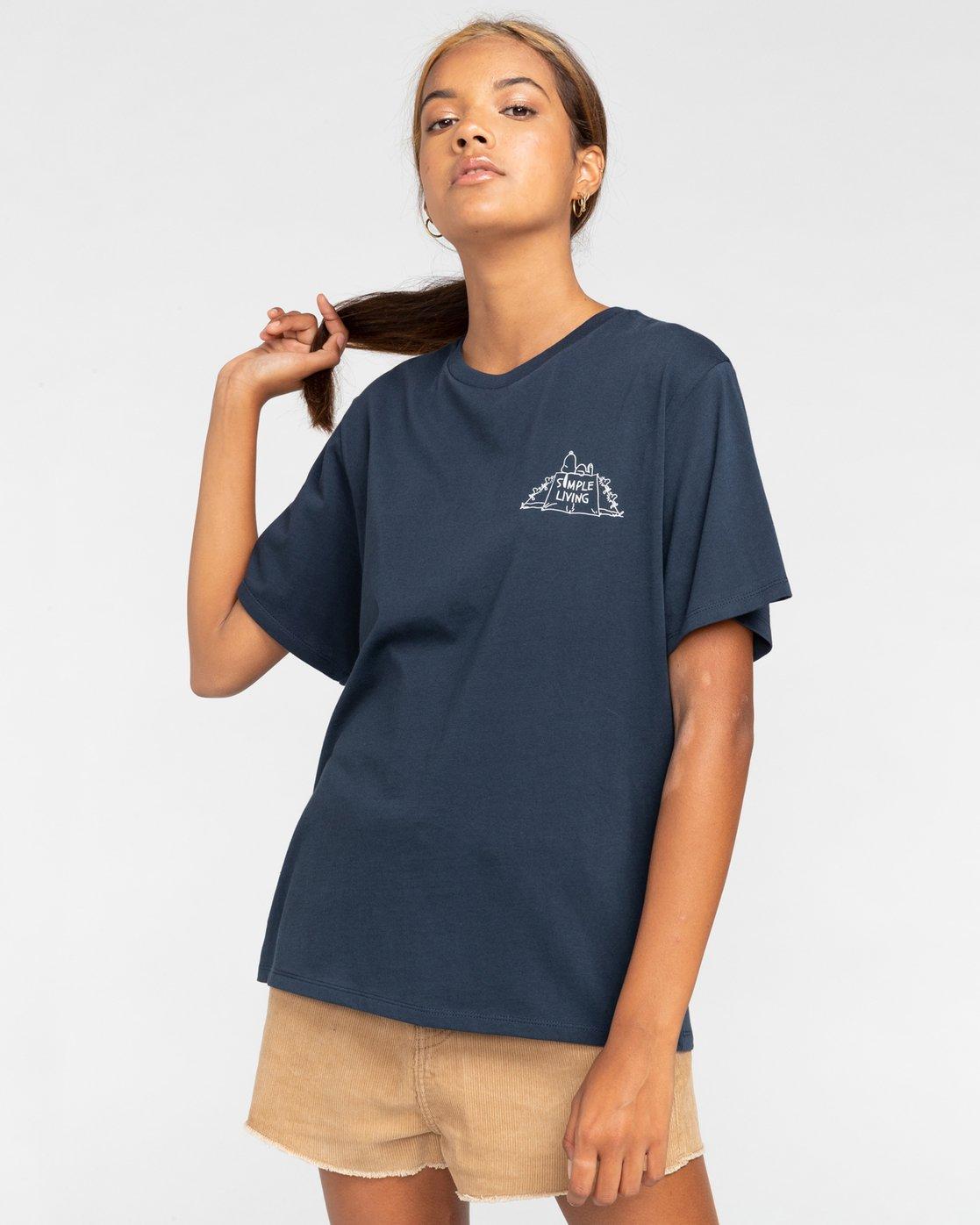 0 Peanuts Simple Living - T-Shirt für Frauen Blau W3SSB2ELP1 Element