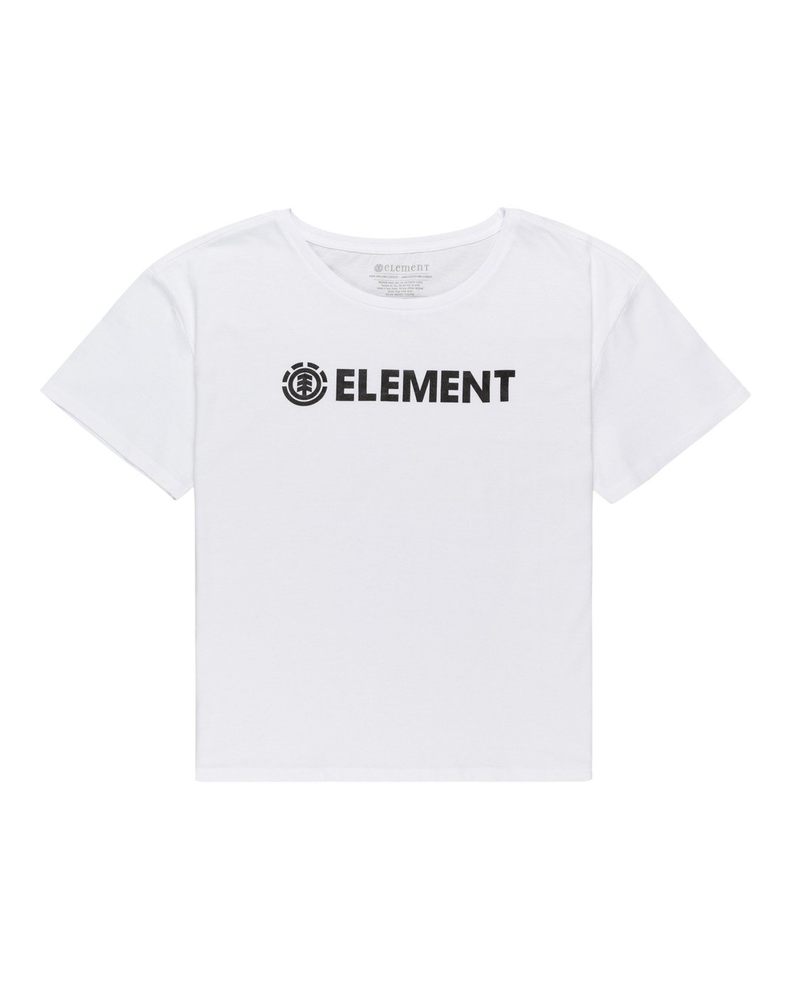 0 Element Logo - T-shirt pour Femme Blanc W3SSB7ELP1 Element