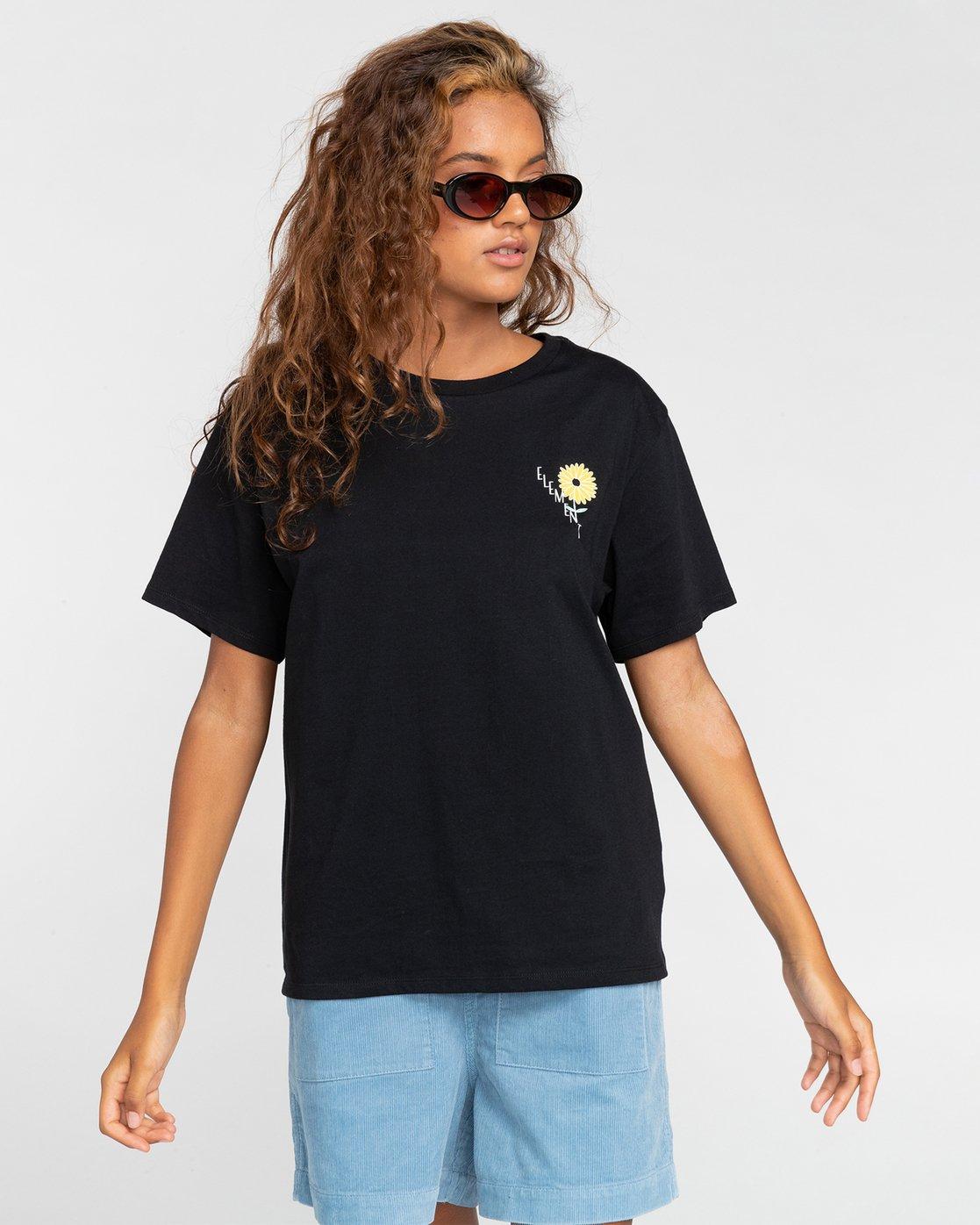0 Rise And Shine - T-Shirt für Frauen Schwarz W3SSC1ELP1 Element