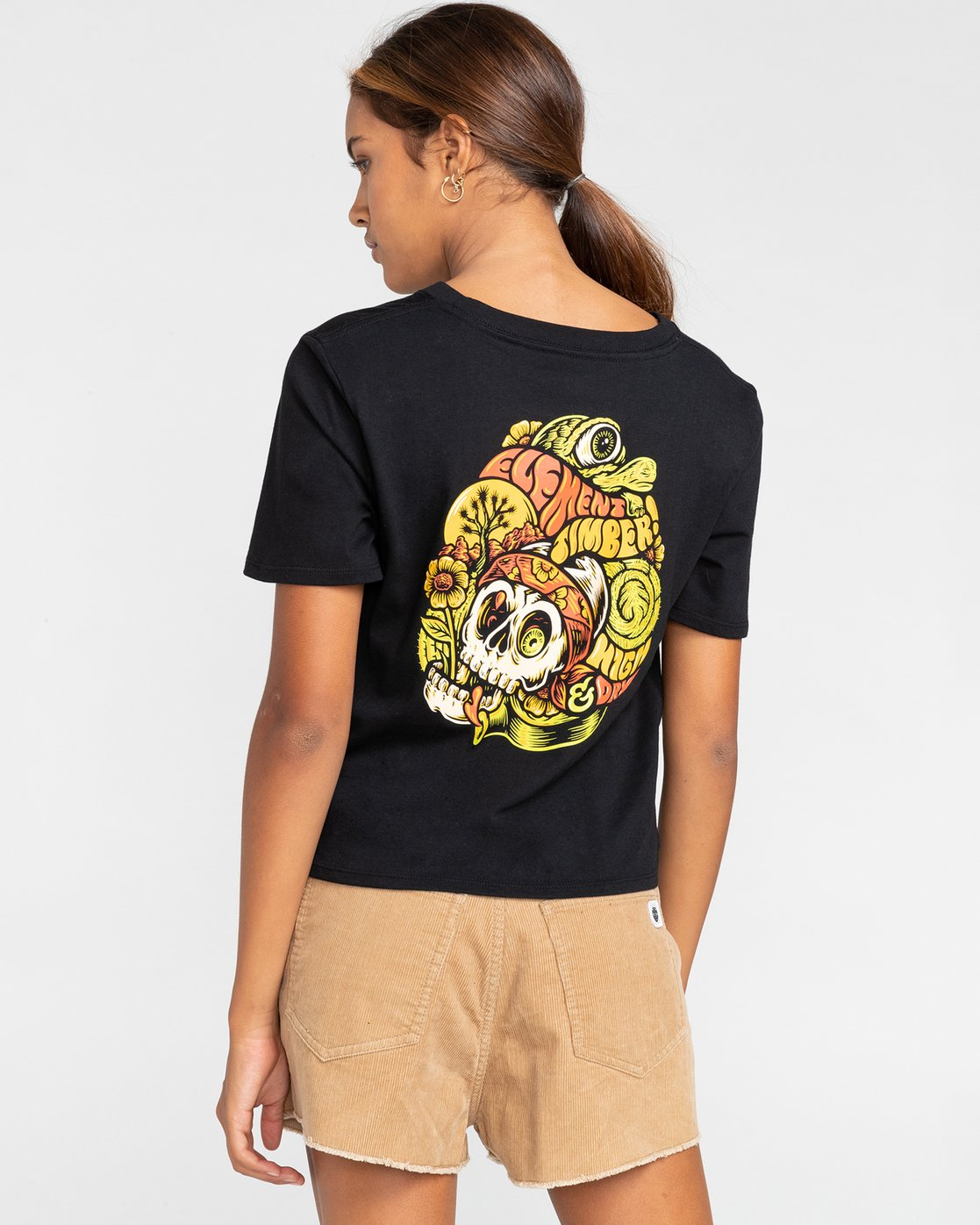 1 Timber! The Vision Crop - T-Shirt for Women Black W3SSC8ELP1 Element