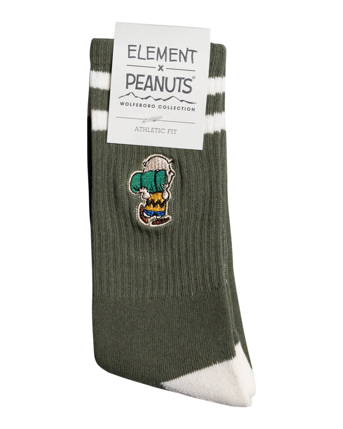 1 Peanuts - Athletic Skate Socks for Men Green W5SOA5ELP1 Element