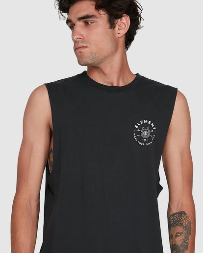 3 MAKE YOUR OWN LUCK MUSCLE TEE  102272 Element