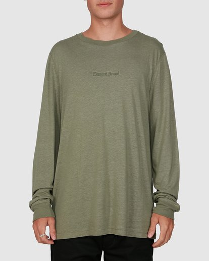 0 STAY HUMBLE LONG SLEEVE TEE Green 105051 Element