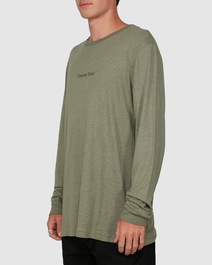 2 STAY HUMBLE LONG SLEEVE TEE Green 105051 Element