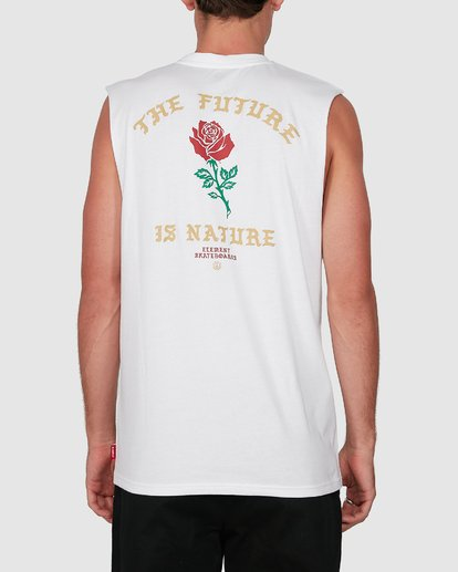 1 FUTURE IS NATURE MUSCLE TEE White 105272 Element