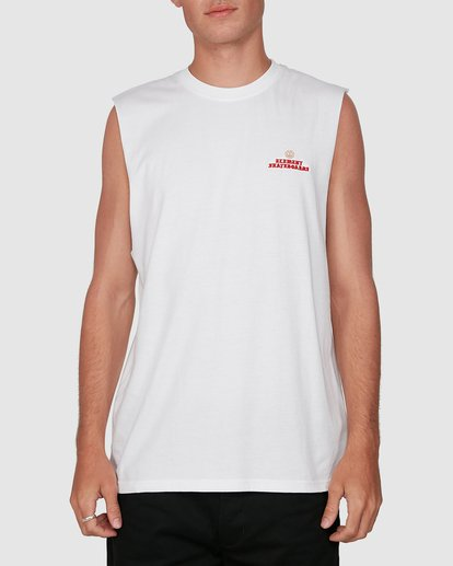 0 FUTURE IS NATURE MUSCLE TEE White 105272 Element