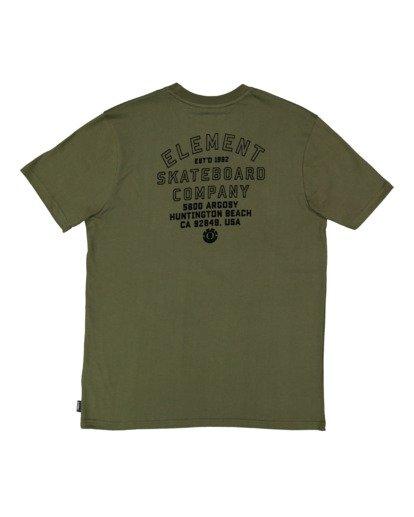 6 Address Short Sleeve Tee Green 112003 Element