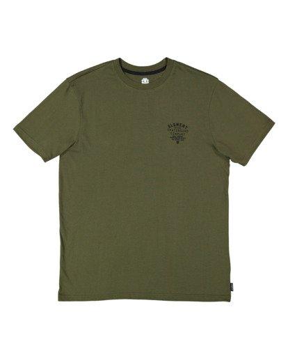 5 Address Short Sleeve Tee Green 112003 Element
