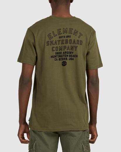 3 Address Short Sleeve Tee Green 112003 Element