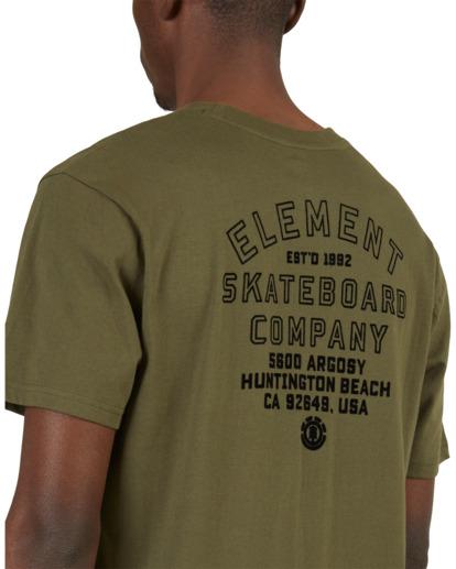 4 Address Short Sleeve Tee Green 112003 Element