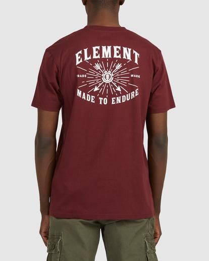 3 Endure Short Sleeve Tee Red 112011 Element