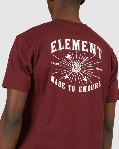 4 Endure Short Sleeve Tee Red 112011 Element