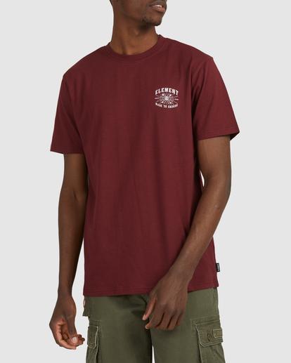 0 Endure Short Sleeve Tee Red 112011 Element