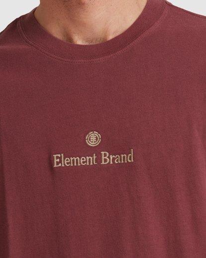 4 PLAIN SAIL SHORT SLEEVE TEE Red 117003 Element