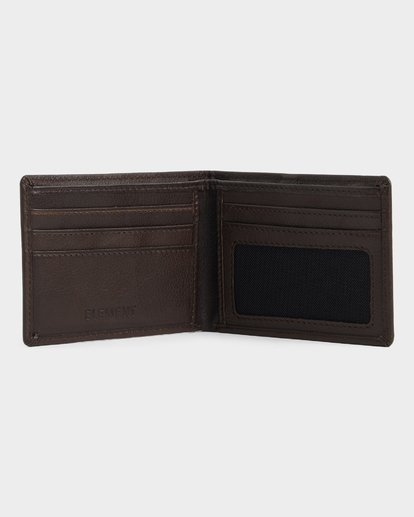 2 CORPO LEATHER WALLET Brown 173573 Element