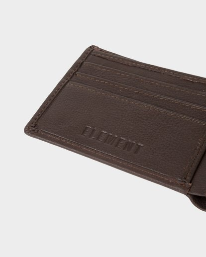 3 CORPO LEATHER WALLET Brown 173573 Element