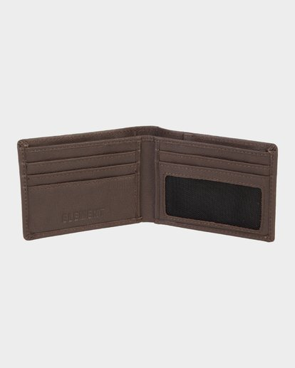 4 CORPO LEATHER WALLET Brown 173573 Element