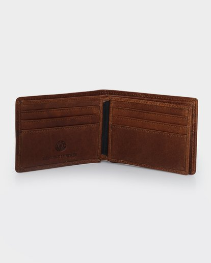 2 CHIEF LEATHER WALLET Brown 174571 Element