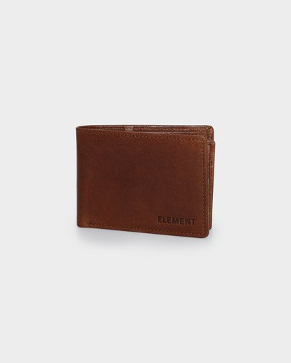 0 CHIEF LEATHER WALLET Brown 174571 Element