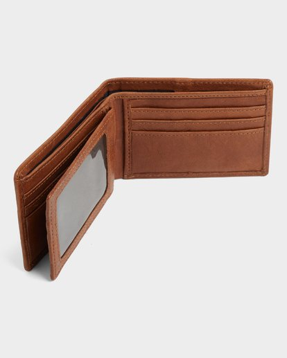 3 MODE LEATHER WALLET Brown 183572 Element